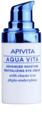 Apivita Aqua Vita crema revitalizante e hidratante intensiva para contorno de ojos 1