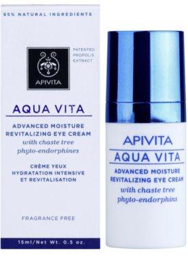 Apivita Aqua Vita crema revitalizante e hidratante intensiva para contorno de ojos 2