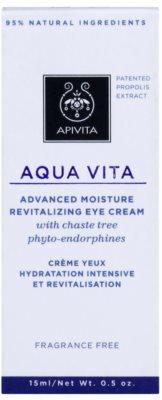 Apivita Aqua Vita crema revitalizante e hidratante intensiva para contorno de ojos 3
