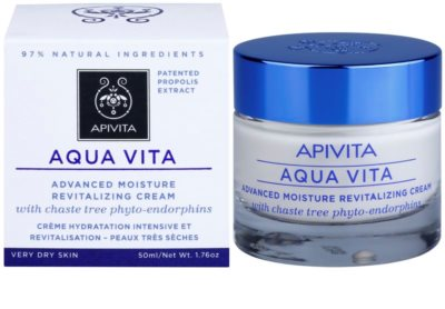 Apivita Aqua Vita intensive feuchtigkeitsspendende und revitalisierende Creme für sehr trockene Haut 1