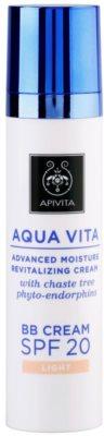 Apivita Aqua Vita BB creme hidratante e revitalizador SPF 20