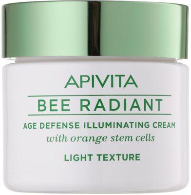 Apivita Bee Radiant легкий омолоджуючий крем для сяючої шкіри