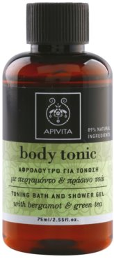 Apivita Body Tonic Bergamot & Green Tea gel de ducha y para baño
