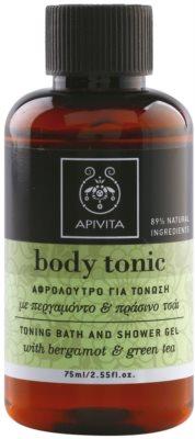 Apivita Body Tonic Bergamot & Green Tea gel de dus si baie