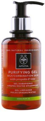 Apivita Cleansing Propolis & Lime čistilni gel za mešano in mastno kožo
