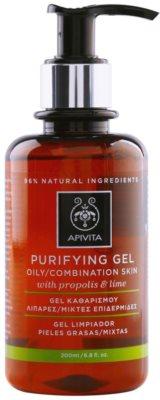 Apivita Cleansing Propolis & Lime gel limpiador para pieles mixtas y grasas