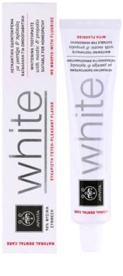 Apivita Natural Dental Care White bleichende Zahnpasta 1