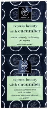 Apivita Express Beauty Cucumber masca faciala intensiv hidratanta