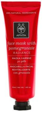 Apivita Express Beauty Pomegranate revitalizacijska in posvetlitvena maska za obraz