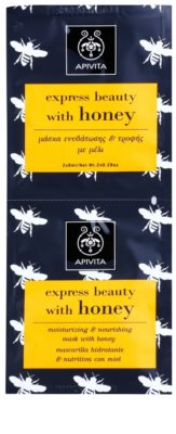 Apivita Express Beauty Honey mascarilla facial hidratante y nutritiva