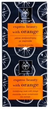 Apivita Express Beauty Orange revitalisierende Gesichtsmaske