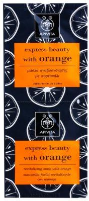 Apivita Express Beauty Orange rewitalizująca maseczka do twarzy
