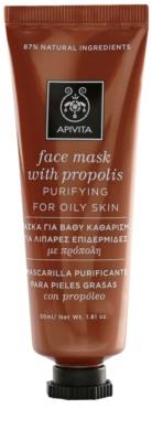 Apivita Express Beauty Propolis почистваща маска  за мазна кожа