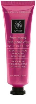 Apivita Express Beauty Pink Clay jemná čistiaca pleťová maska