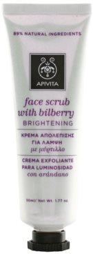 Apivita Express Gold Bilberry máscara peeling para pele radiante