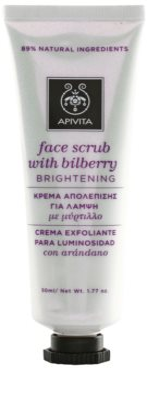 Apivita Express Gold Bilberry piling maska za osvetlitev kože