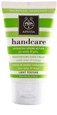 Apivita Hand Care Aloe & Honey lahka vlažilna krema za roke in nohte