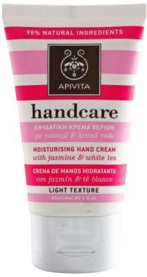 Apivita Hand Care Jasmine & White Tea crema hidratante ligera  para manos
