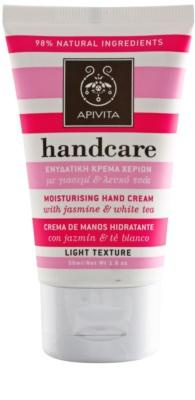 Apivita Hand Care Jasmine & White Tea лек хидратиращ крем за ръце