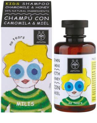 Apivita Kids Chamomile & Honey champô apaziguador  para crianças 1