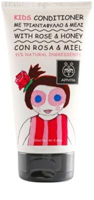 Apivita Kids Rose & Honey vlasový kondicionér pro děti