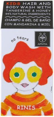 Apivita Kids Tangerine & Honey szampon i żel pod prysznic 2 w 1 dla dzieci 2