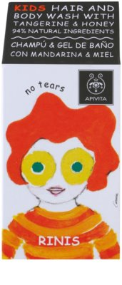 Apivita Kids Tangerine & Honey šampon a sprchový gel 2 v 1 pro děti 2