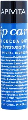 Apivita Lip Care Cocoa Butter bálsamo hidratante intensivo para lábios SPF 20