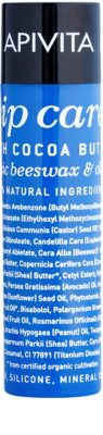 Apivita Lip Care Cocoa Butter intenzív hidratáló szájbalzsam SPF 20