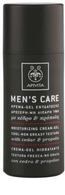 Apivita Men's Care Cedar & Propolis creme gel com efeito hidratante