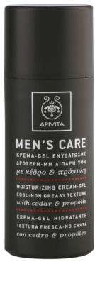 Apivita Men's Care Cedar & Propolis krem w żelu o dzłałaniu nawilżającym