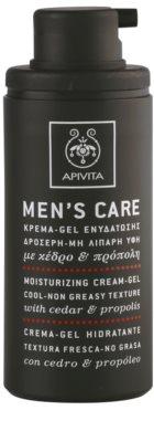 Apivita Men's Care Cedar & Propolis Gel-Creme mit feuchtigkeitsspendender Wirkung 1