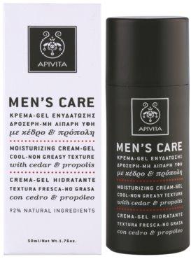 Apivita Men's Care Cedar & Propolis Gel-Creme mit feuchtigkeitsspendender Wirkung 2