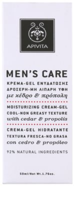 Apivita Men's Care Cedar & Propolis Gel-Creme mit feuchtigkeitsspendender Wirkung 3