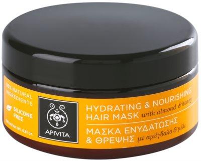 Apivita Propoline Almond & Honey hidratáló és tápláló maszk száraz hajra