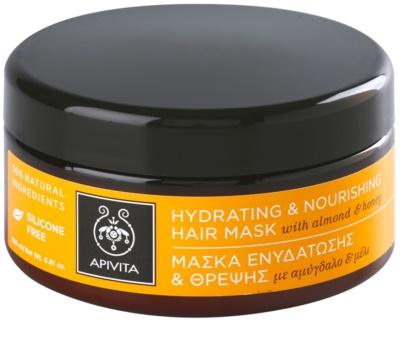 Apivita Propoline Almond & Honey máscara hidratante e nutritiva para cabelo seco