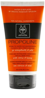 Apivita Propoline Citrus & Honey ревитализиращ балсам за всички видове коса
