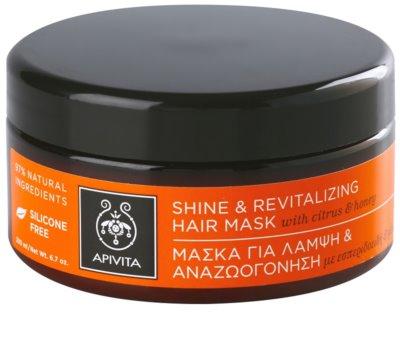 Apivita Propoline Citrus & Honey revitalizacijska maska za lase za obnovo sijaja