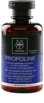 Apivita Propoline Lupin & Rosemary tonizáló sampon a haj elvékonyodása ellen uraknak