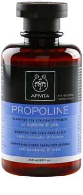 Apivita Propoline Lavender & Honey champô para o couro cabeludo sensível