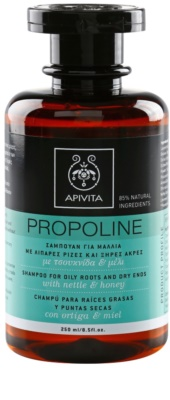 Apivita Propoline Nettle & Honey шампунь для жирного типу волосся