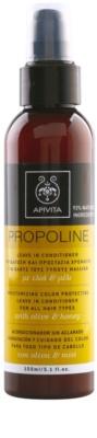 Apivita Propoline Olive & Honey feuchtigkeitsspendender Conditioner als Spray für alle Haartypen