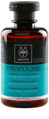 Apivita Propoline Rosemary & Propolis champô para cabelos oleosos