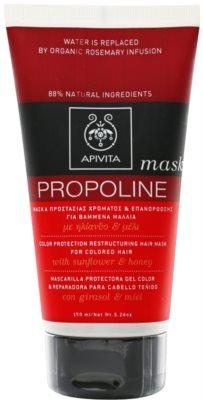 Apivita Propoline Sunflower & Honey restrukturierende Maske für gefärbtes Haar