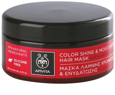 Apivita Propoline Sunflower & Honey feuchtigkeitsspendende und aufhellende Maske für gefärbtes Haar