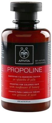 Apivita Propoline Sunflower & Honey szampon do włosów farbowanych