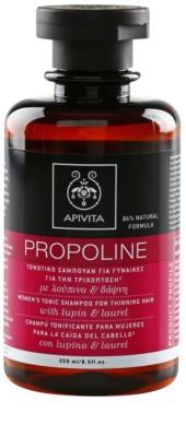 Apivita Propoline Lupin & Laurel тонізуючий шампунь для рідкого  волосся