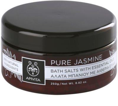 Apivita Pure Jasmine sal de banho com óleos essenciais