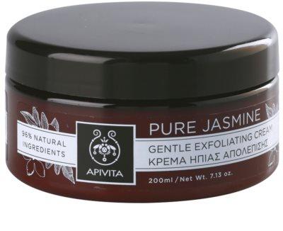 Apivita Pure Jasmine ніжний крем-пілінг
