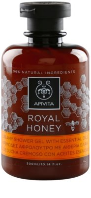 Apivita Royal Honey gel de ducha en crema con aceites esenciales